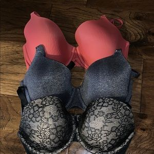 Ambrielle Everyday Fill Coverage Bra Bundle of 3